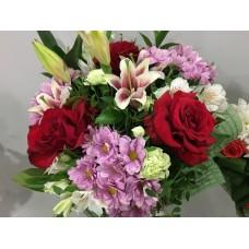 Букет с розами Софи Лорен