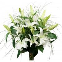 Свадебные букеты из лилий