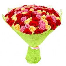 101 роза микс эквадор 60 см