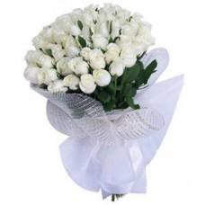 51 белая голландская роза 60 см