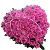 Букет цветов в виде сердца из роз | Долина Роз