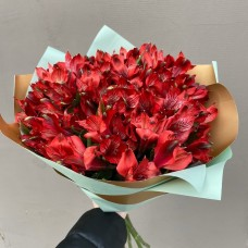 Букет красных альстромерий