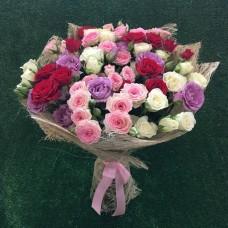 Микс из 15 премиум кустовых роз
