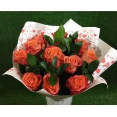 Букет оранжевых роз