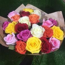 21 Премиум яркая роза