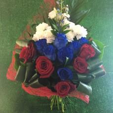 Букет в цвете флага России