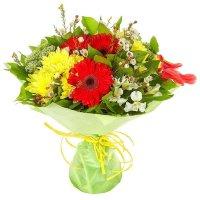 Хризантемы, альстромерии, герберы | Долина Роз