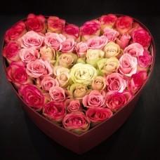 Сердце в оттенках розового