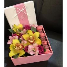 Flowerbox с желтой орхидеей