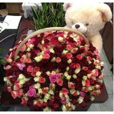 501 кенийская роза в корзине