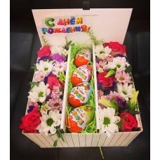 Подарочный flowerbox для поднятия настроения