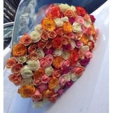 Коробка с желтыми розами