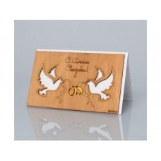 Деревянная открытка ручной работы