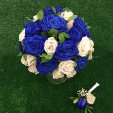 Свадьба с синими розами
