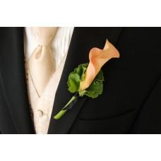 Страстный и стильный букет невесты. Бутоньерка в подарок!