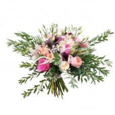 Букет невесты с каллами и пионовидными розами